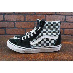 Vans Shoes - Vans SK8 Hi Checkerboard Mens Size 9 Sneakers Gray